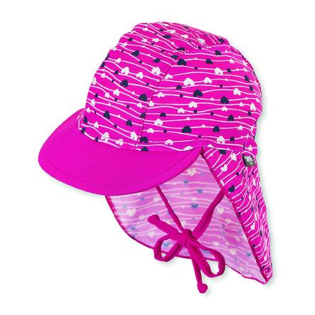 Sterntaler Schirmmütze mit Nackenschutz magenta