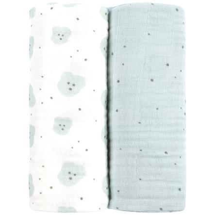 emma & noah Hydrofiele doeken 2 stuks Organics 80 x 80 cm
