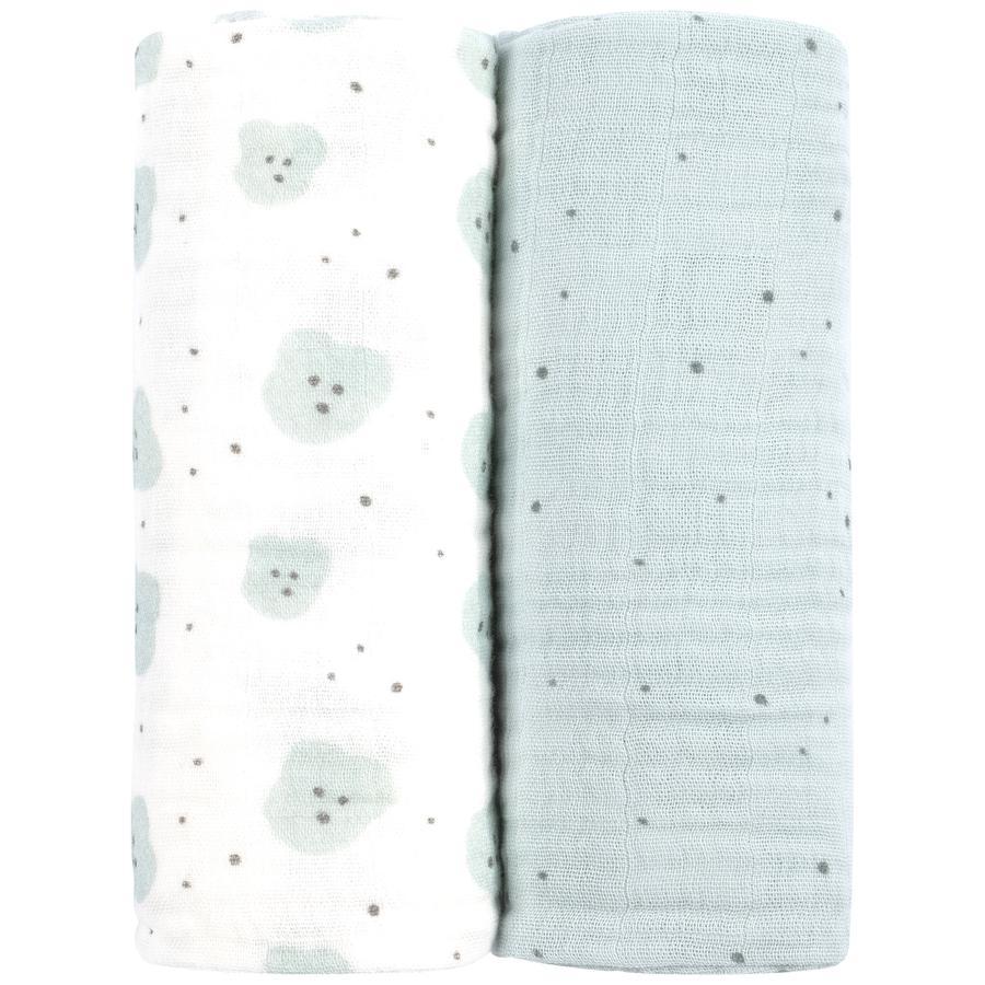 emma & noah muslinblöjor set med 2 st Organics 80 x 80 cm
