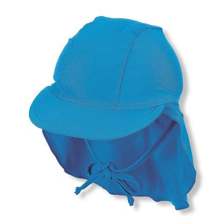 Sterntaler gorra de pico con protección de cuello azul
