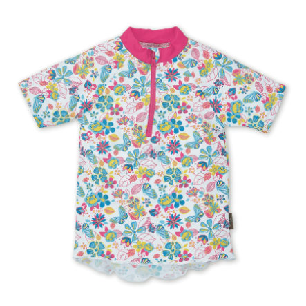 Plavecká košile Sterntaler UV s krátkým rukávem bílá