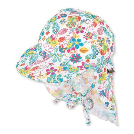 Sterntaler cap med halsbeskyttelse hvid