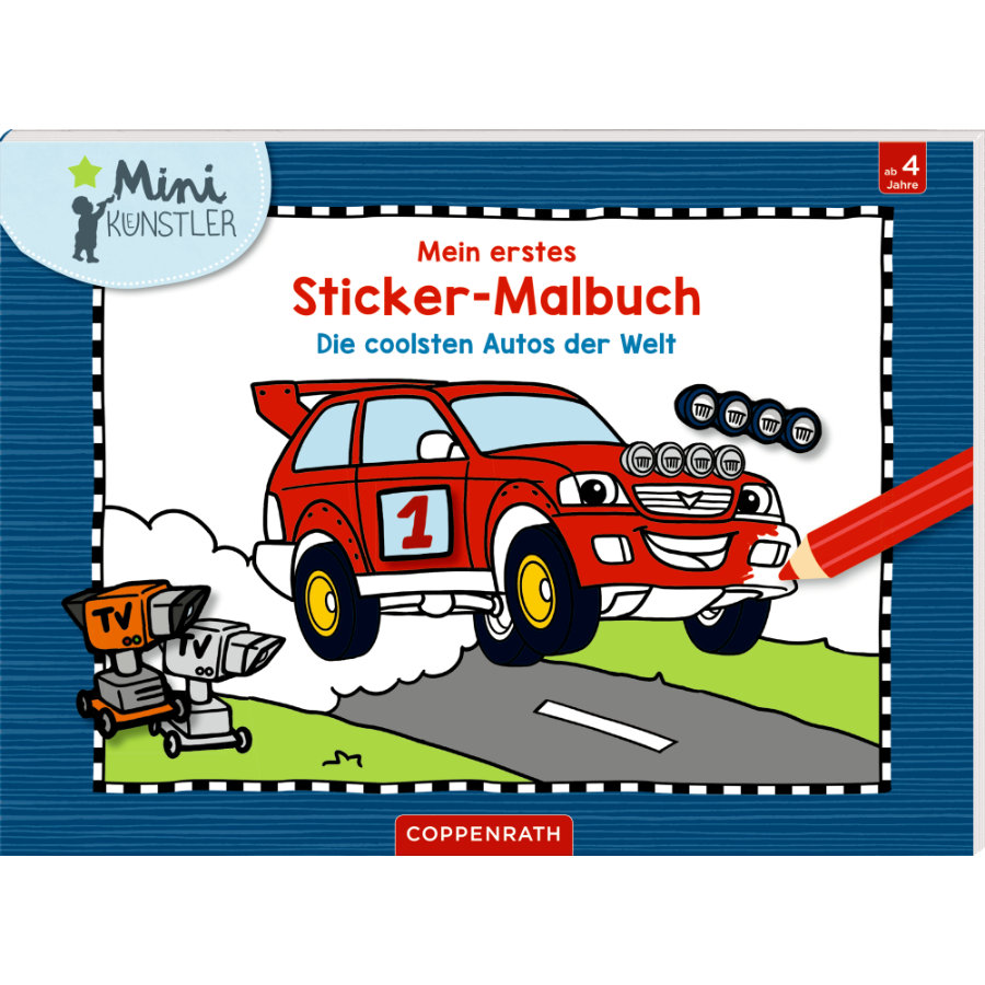 SPIEGELBURG COPPENRATH Mini-Künstler: Mein 1. Sticker-Malbuch.: Die coolsten Autos der Welt