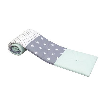 ULLENBOOM® Nestchen for halvrunde sidesenger Mint Grey 145 x 24 cm