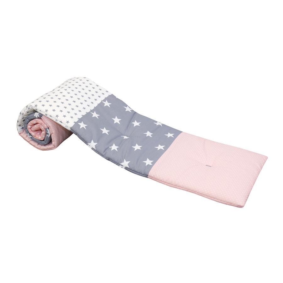 ULLENBOOM ® Nestchen voor halfronde zijbedden Roze Grijs 145 x 24 cm