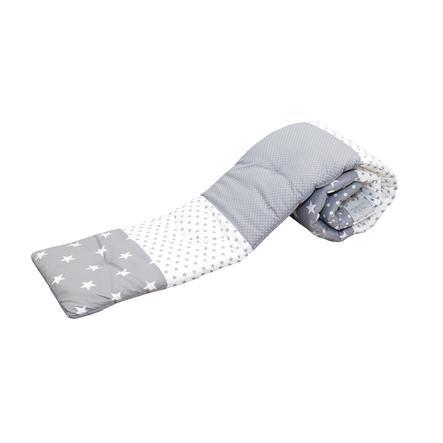 ULLENBOOM® Ochraniacz do łóżeczka Grey Stars 170 x 24 x 4 cm