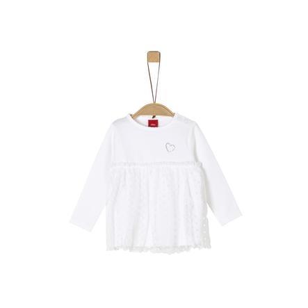 s. Oliven r Langærmet skjorte hvid