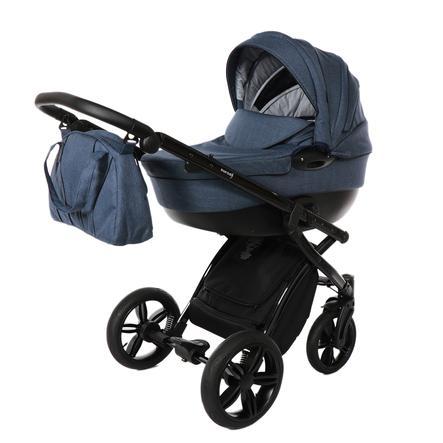 knorr-baby Kombikinderwagen Alive Melange Blau