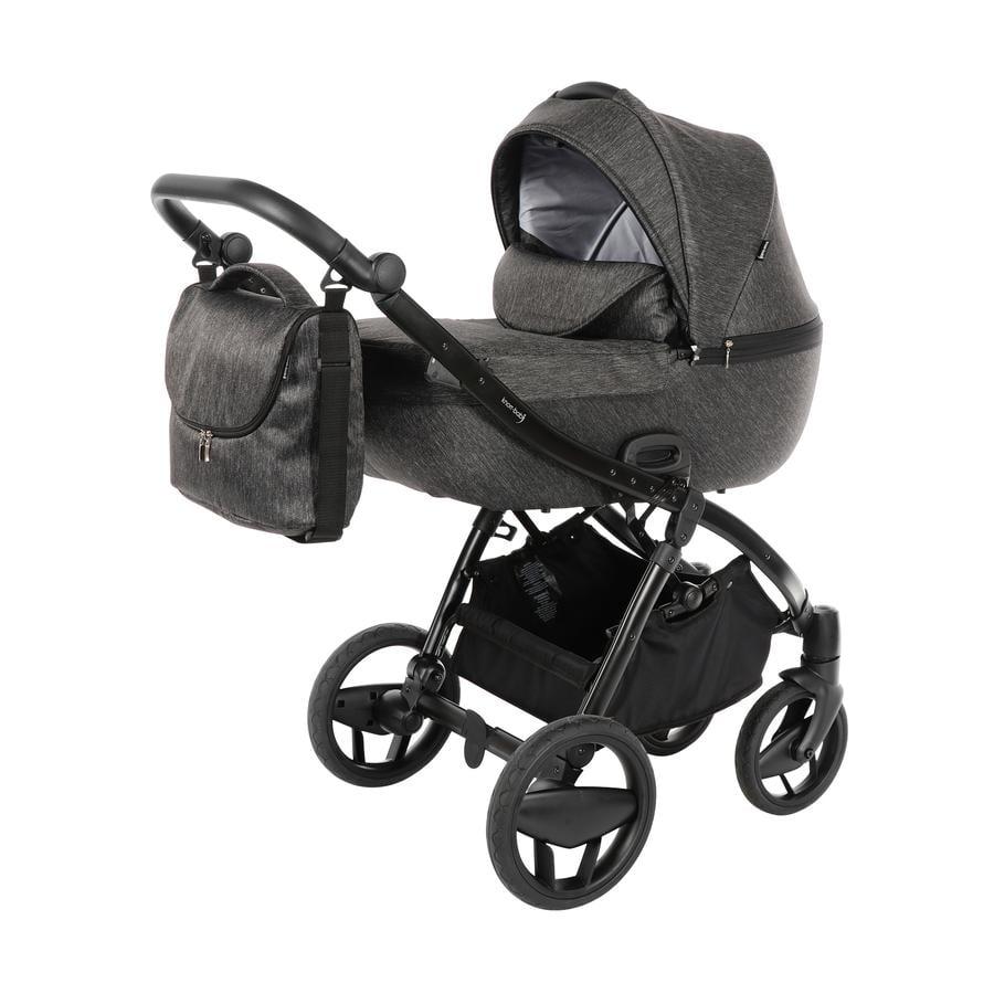 knorr-baby Kombikinderwagen Piquetto Uni Schiefer