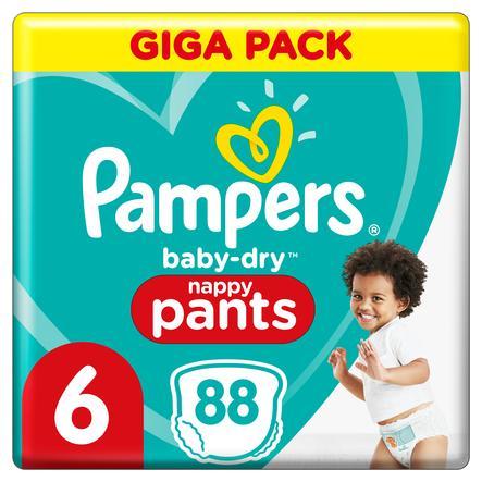 Pampers Baby Dry Vaippahousut Gr. 6 erityisen suurta 88 vaippaa 15+ kg Giga Pack