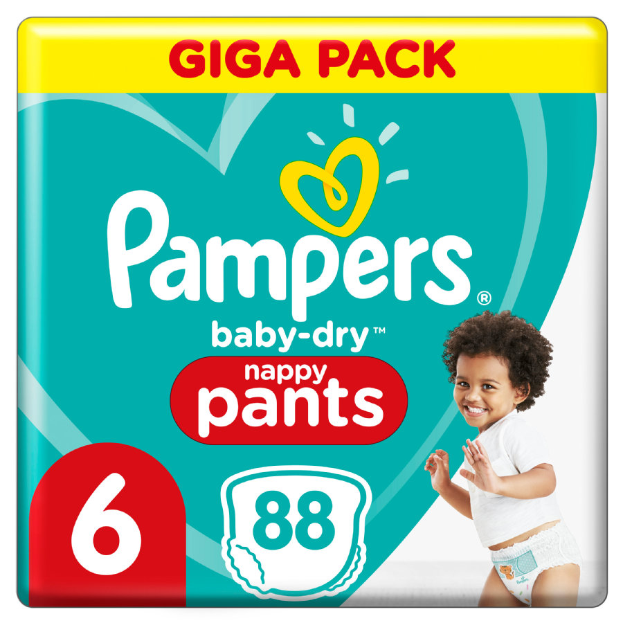 Pampers Couches Baby Dry Nappy Pants T.6 extra large pack géant 15+kg 88 pcs