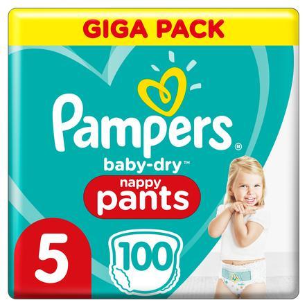 Pampers Baby-Dry Höschenwindeln 5, 100Windeln, 12kg-17kg
