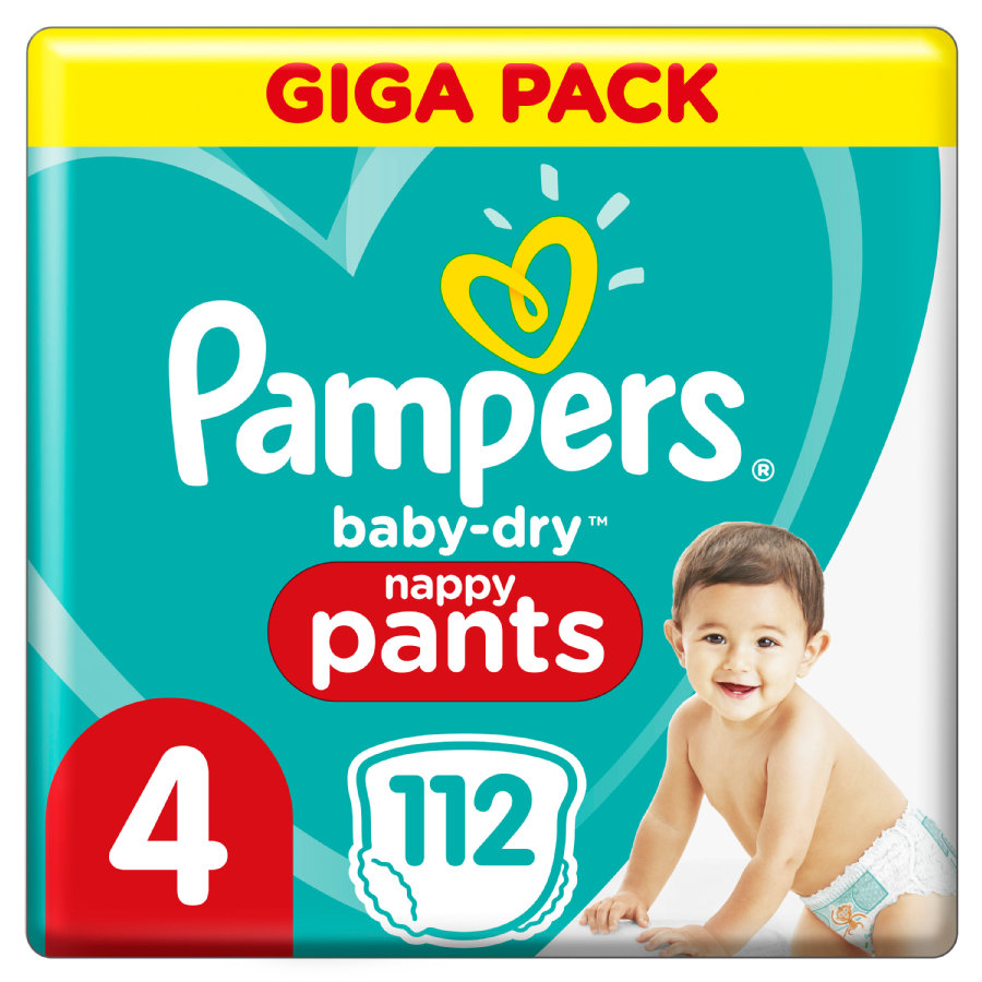 Pampers Couches culottes Baby Dry Pants T.4 Maxi 9-15 kg pack géant 108 pcs