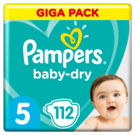 Pampers Baby Dry Gr. 5 Junior 112 luiers 11 tot 16 kg Giga Pack