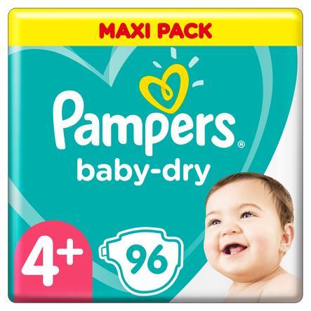 Pampers Diapers Baby Dry Gr. 4+ Maxi Plus 96 bleier 10 til 15 kg trippel pakke