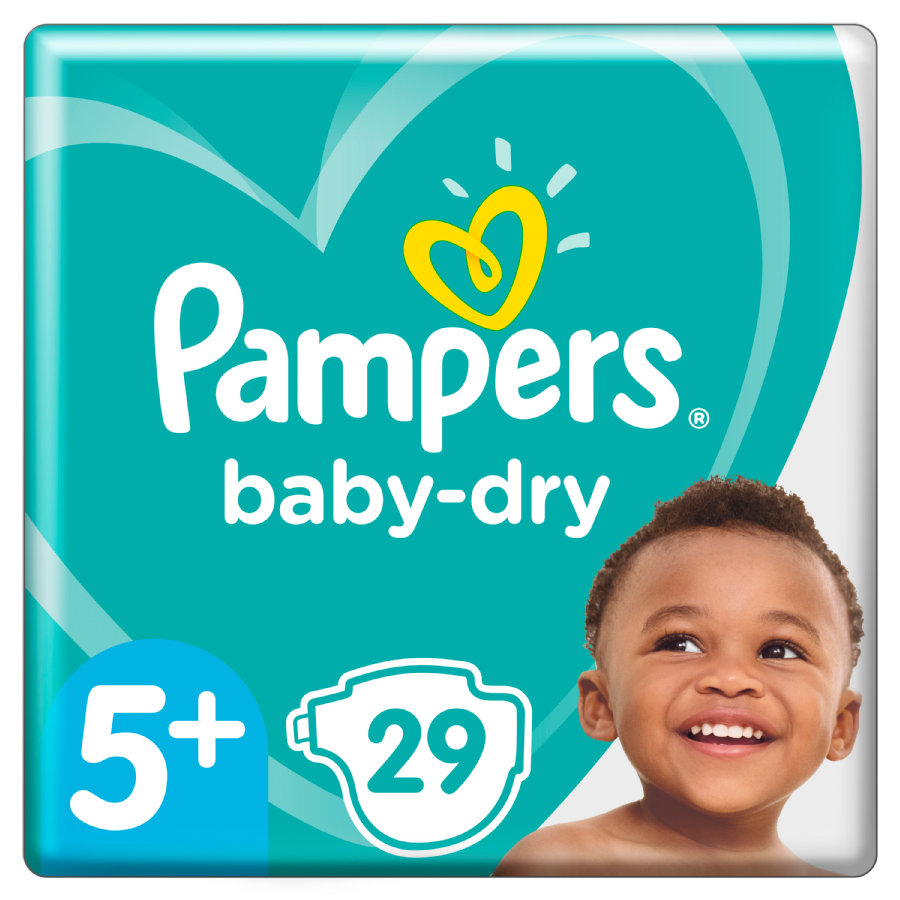 Pampers Diapers Baby Dry Gr. 5+ Junior Plus 29 bleier 12 til 17 kg