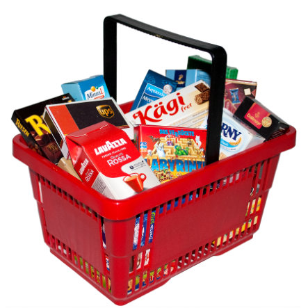 Tanner - pieni kauppias - supermarketikori