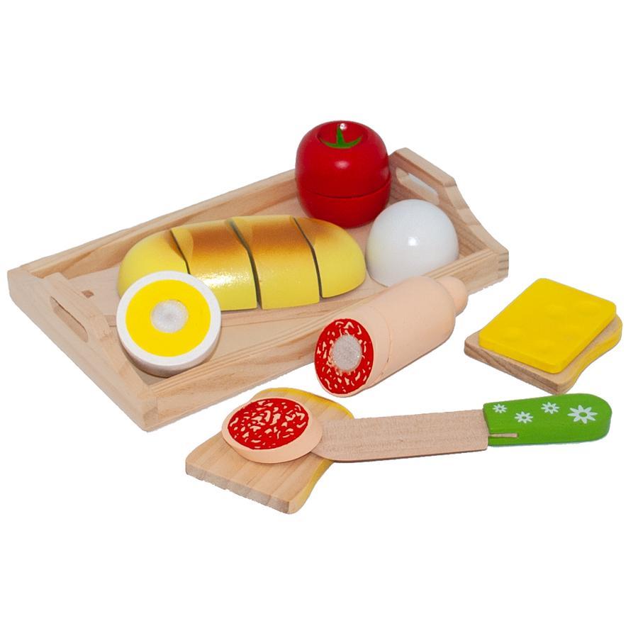 Tanner - Plateau petit-déjeuner enfant Le petit marchand bois