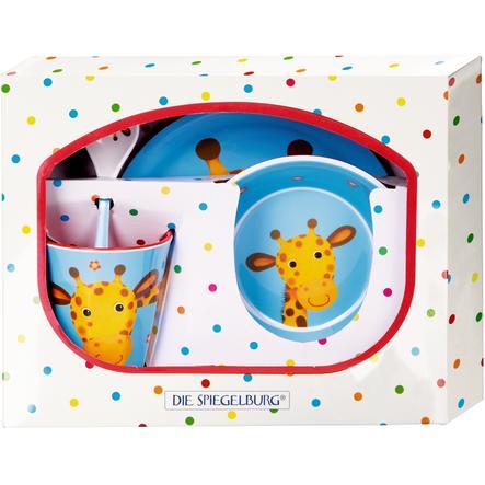 COPPENRATH Melamine Gift Set Giraffe - Cheeky chrastítko gang
