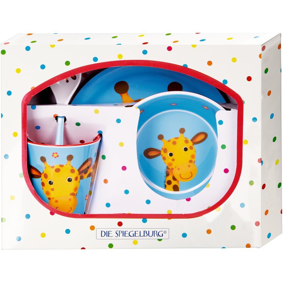 COPPENRATH Coffret cadeau vaisselle enfant mélamine girafe - gang de coquins