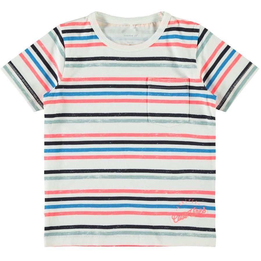 name it Boys T-Shirt Nmmfinno neon koralowy