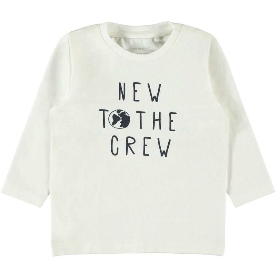 name it Lange mouw shirt NBMFESTA sneeuw white
