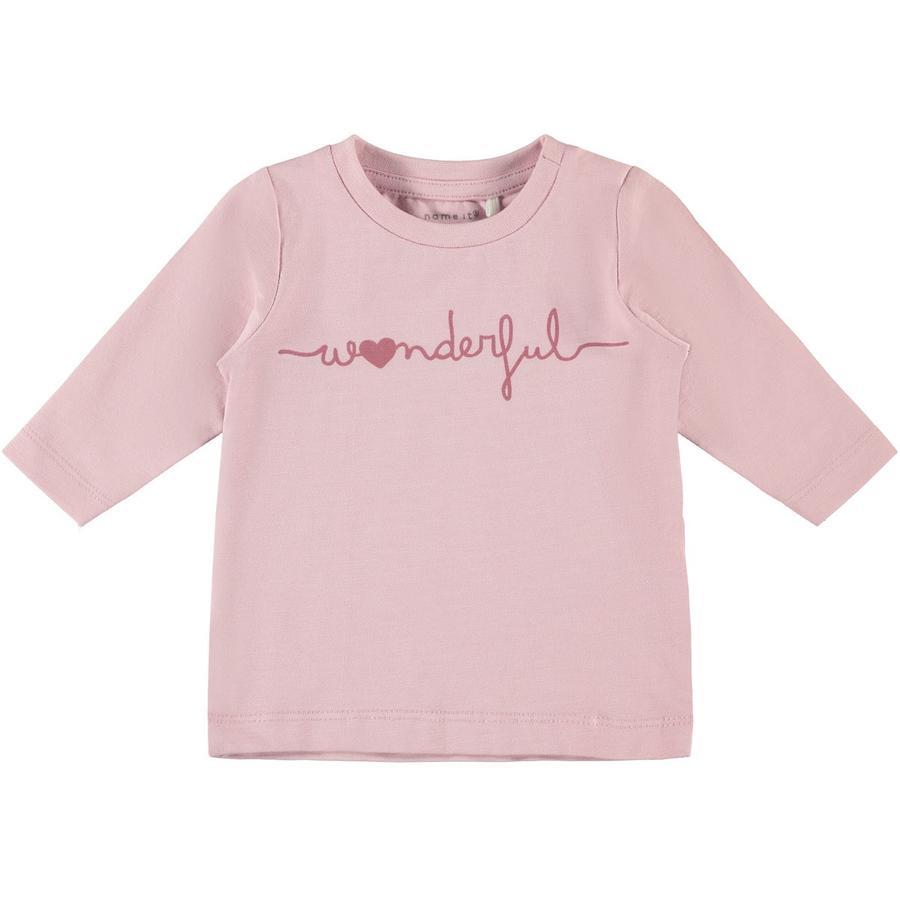 name it Langarmshirt Nbmffleur pink nectar