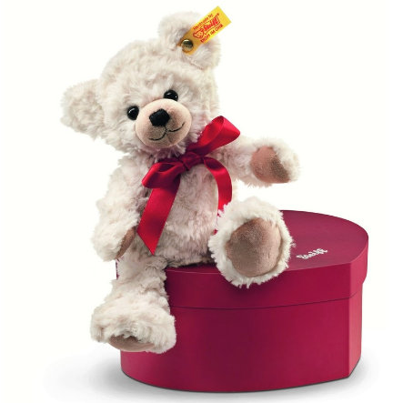 STEIFF Teddy bear Sweetheart - 22cm - in heart shaped box