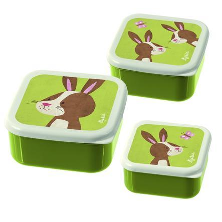 sigikid ® Snackboxar Set med 3 kaniner Forest