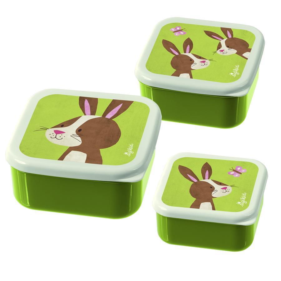 sigikid ® Snackboxes Set de 3 conejitos Forest