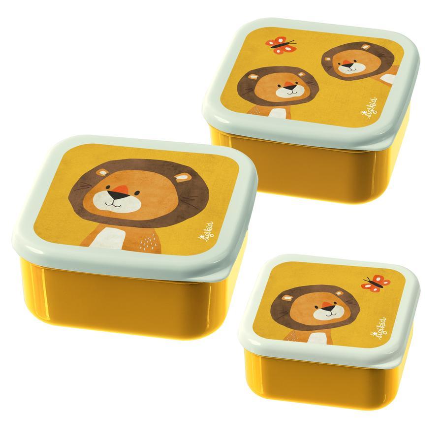 sigikid® Boîte à goûter enfant lion Forest lot de 3
