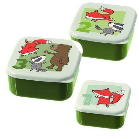 sigikid ® Snackboxar Set of 3 Forest