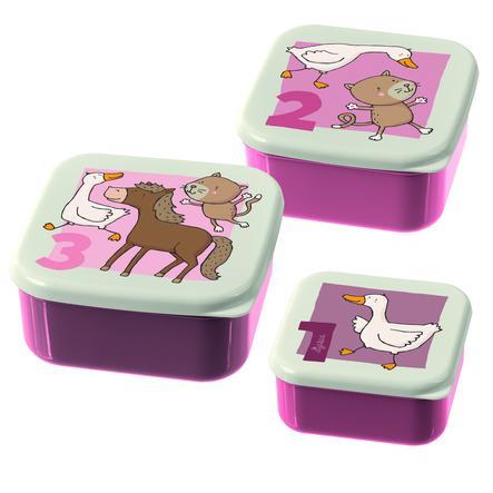 sigikid ® Snackboxar Set of 3 Farm