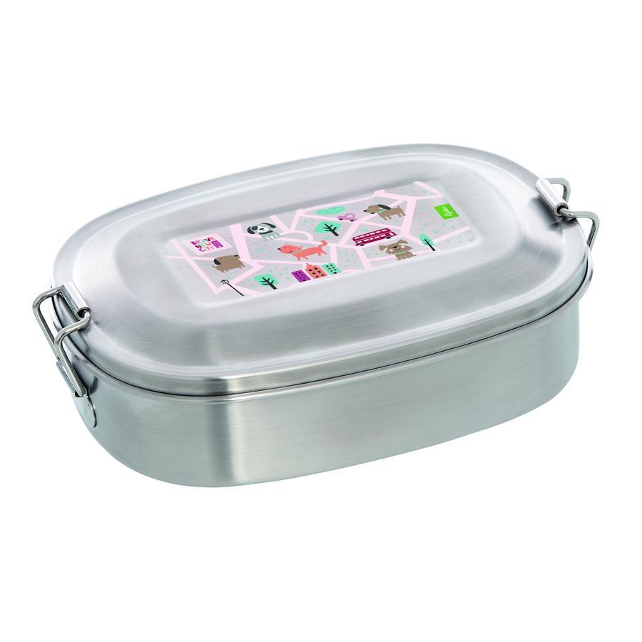 sigikid lunchbox z nerezové oceli Cat Green