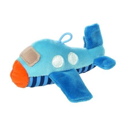 sigikid® Rassel Flugzeug - red stars