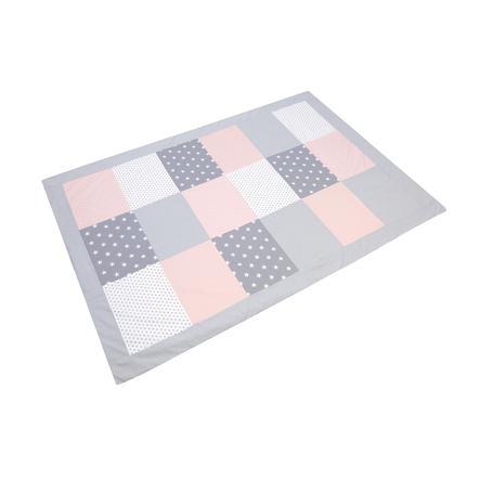 ULLENBOOM ® Patchwork cubierta de gris rosa 140 x 200 cm