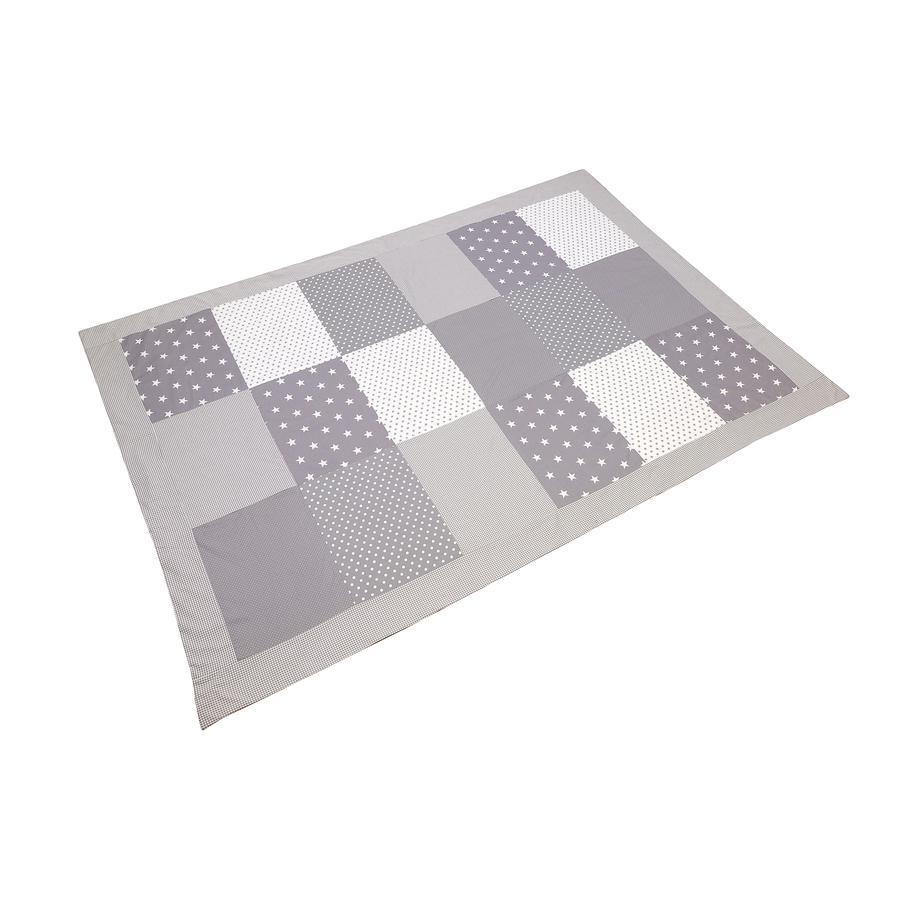 ULLENBOOM® Lapptrekk dekk grå stjerner 140 x 200 cm