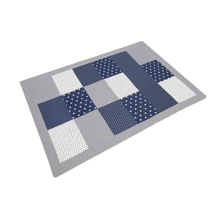 ULLENBOOM® Couverture bébé patchwork étoiles bleues 140x200 cm