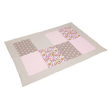 ULLENBOOM ® lapptäcke Sand ekorre 100 x 140 cm