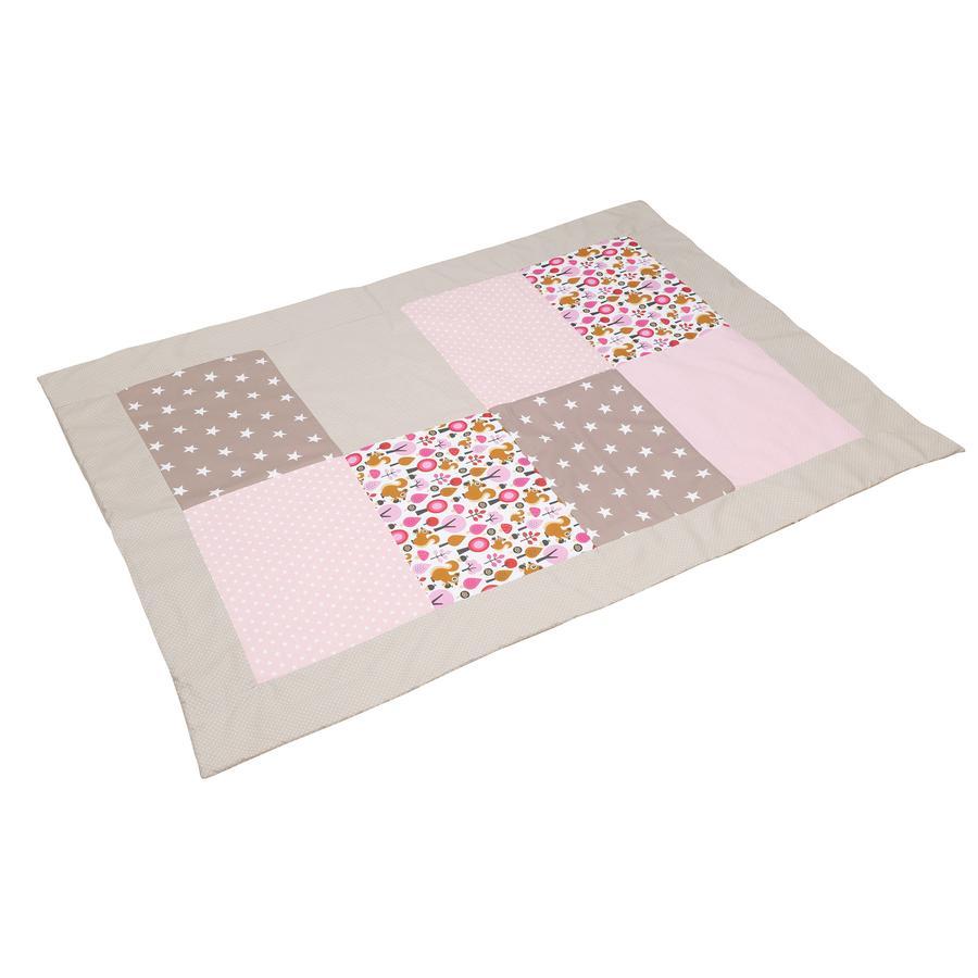 ULLENBOOM ® Patchwork cubre la Sand ardilla 100 x 140 cm