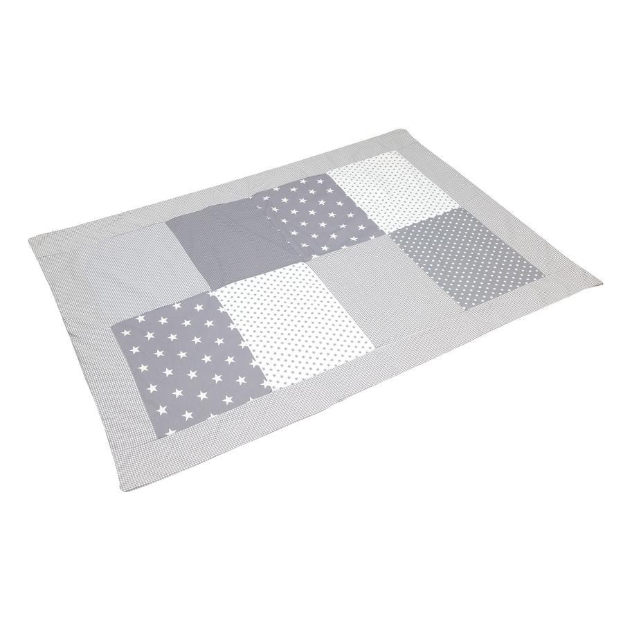 ULLENBOOM® Patchworkdecke Grau Sterne 100x140 cm