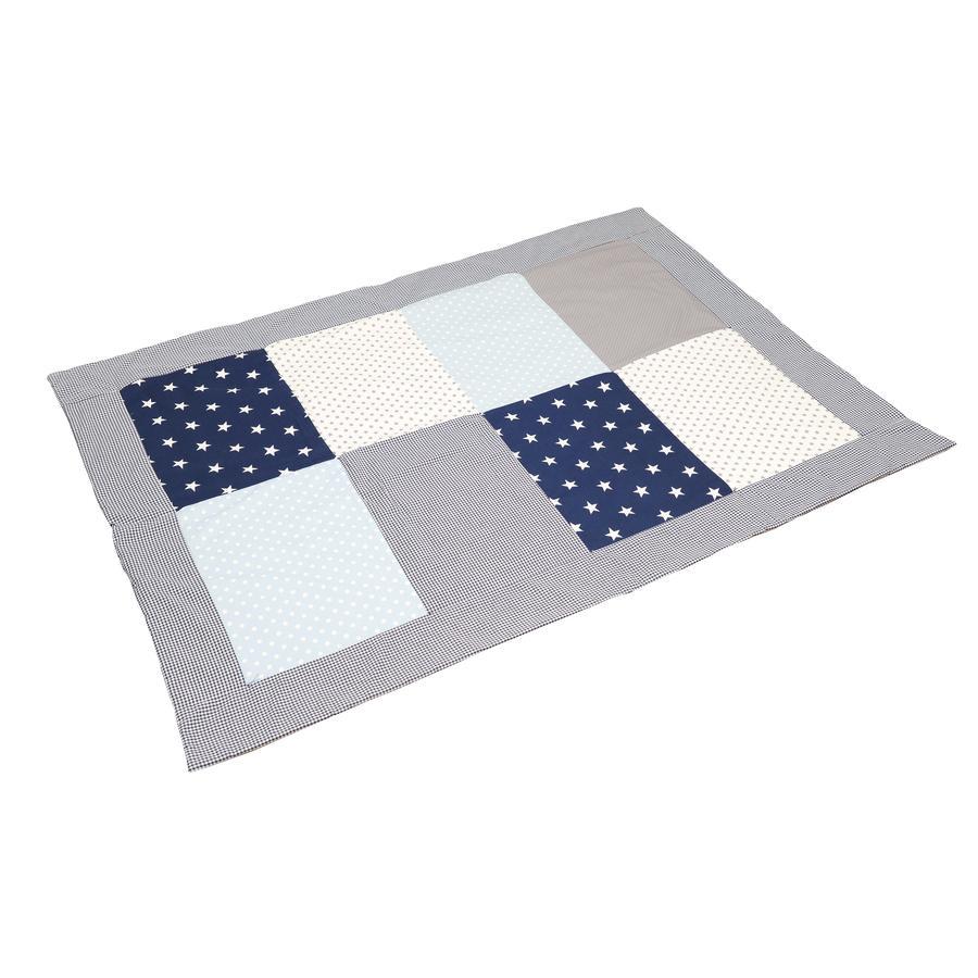 ULLENBOOM® Couverture bébé patchwork bleu bleu clair gris 100x140 cm