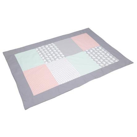 ULLENBOOM®Koc Patchwork Słoń Mint Rosa 100 x140 cm