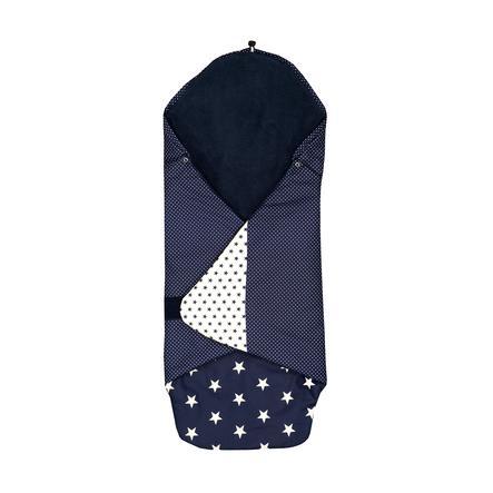 ULLENBOOM ® Inpackningsfilt Blue Stars 98 x 98 x 2 cm
