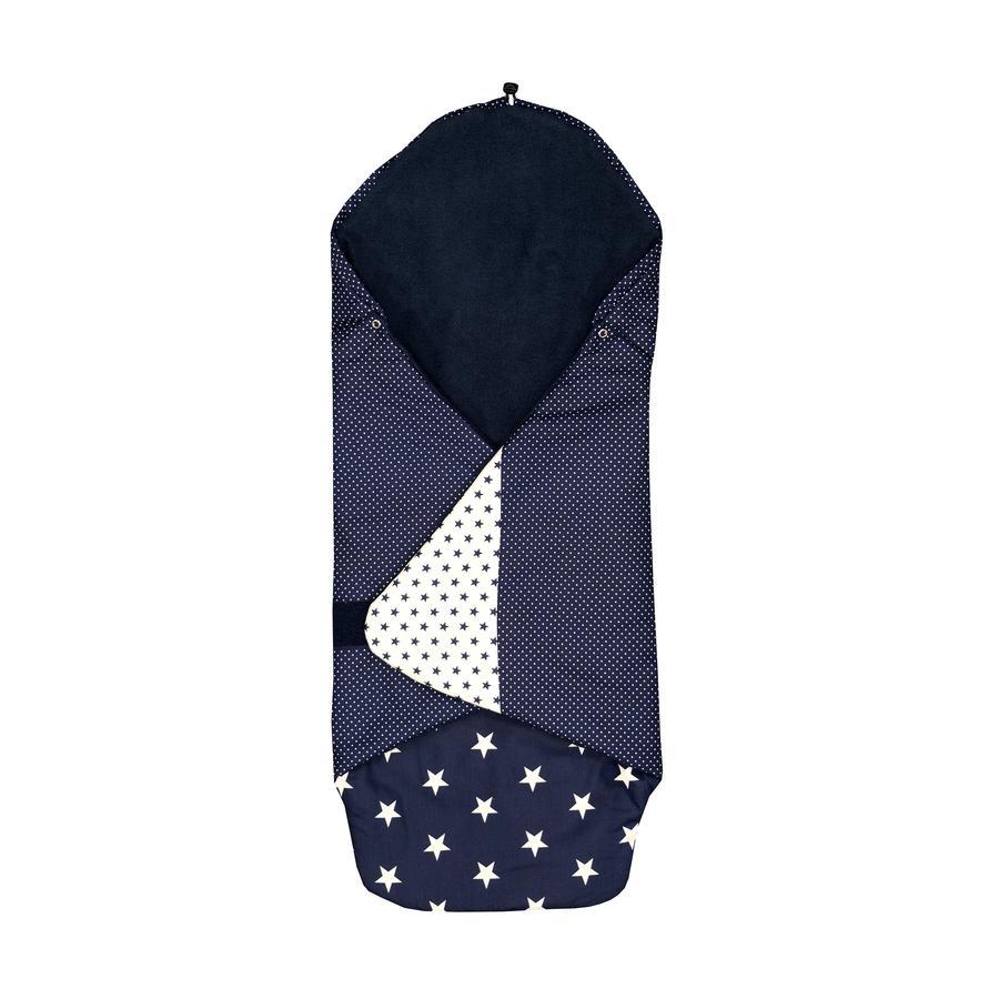 ULLENBOOM® Einschlagdecke Blaue Sterne 98 x 98 x 2 cm
