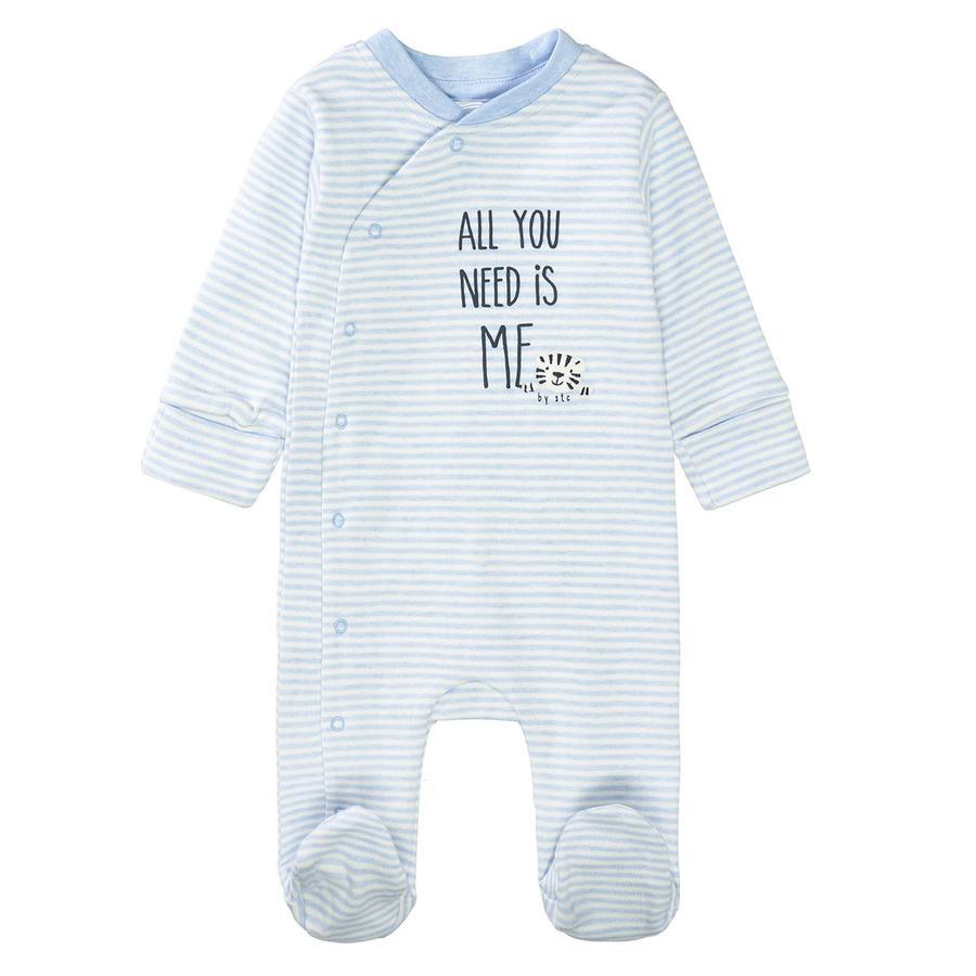 STACCATO Pyjama 1tlg. aqua melange gestreift