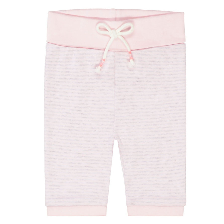 STACCATO Kalhoty měkké růžové pruhované