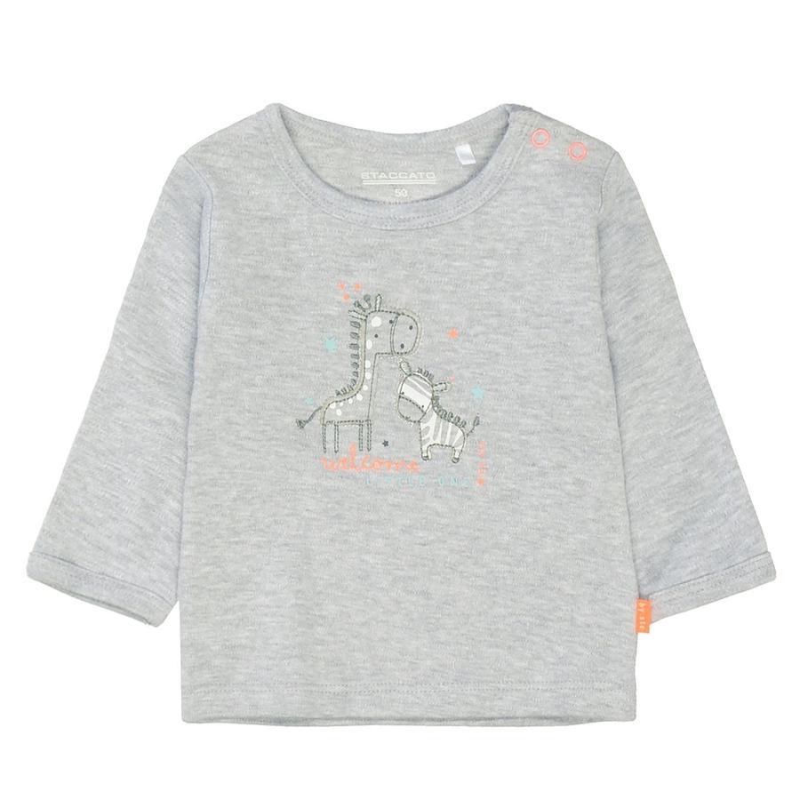 STACCATO Shirt light grey melange