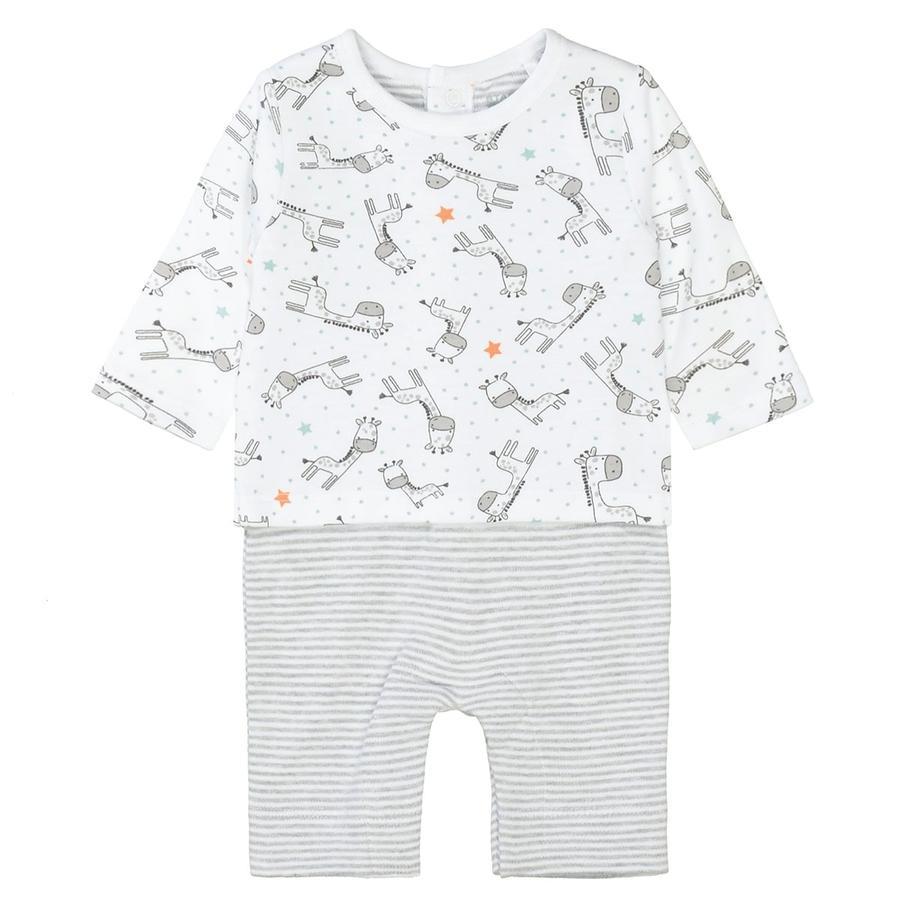 STACCATO Dívčí romper + tričko bílé vzorované