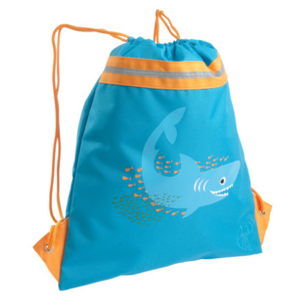 LÄSSIG Sac de sport mini String Bag Shark ocean